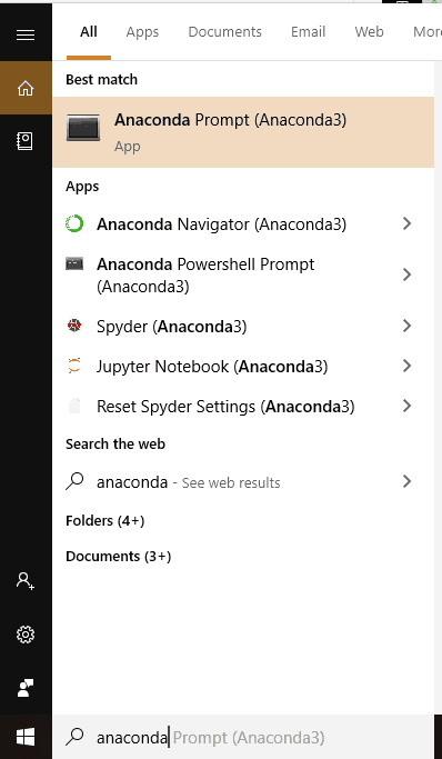 anaconda prompt or navigator