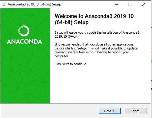 anaconda install setup