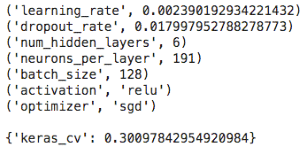 hyperparameter tuning keras best parameters