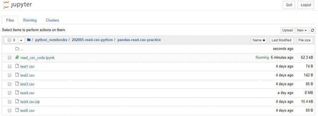pandas read_csv practice csv files
