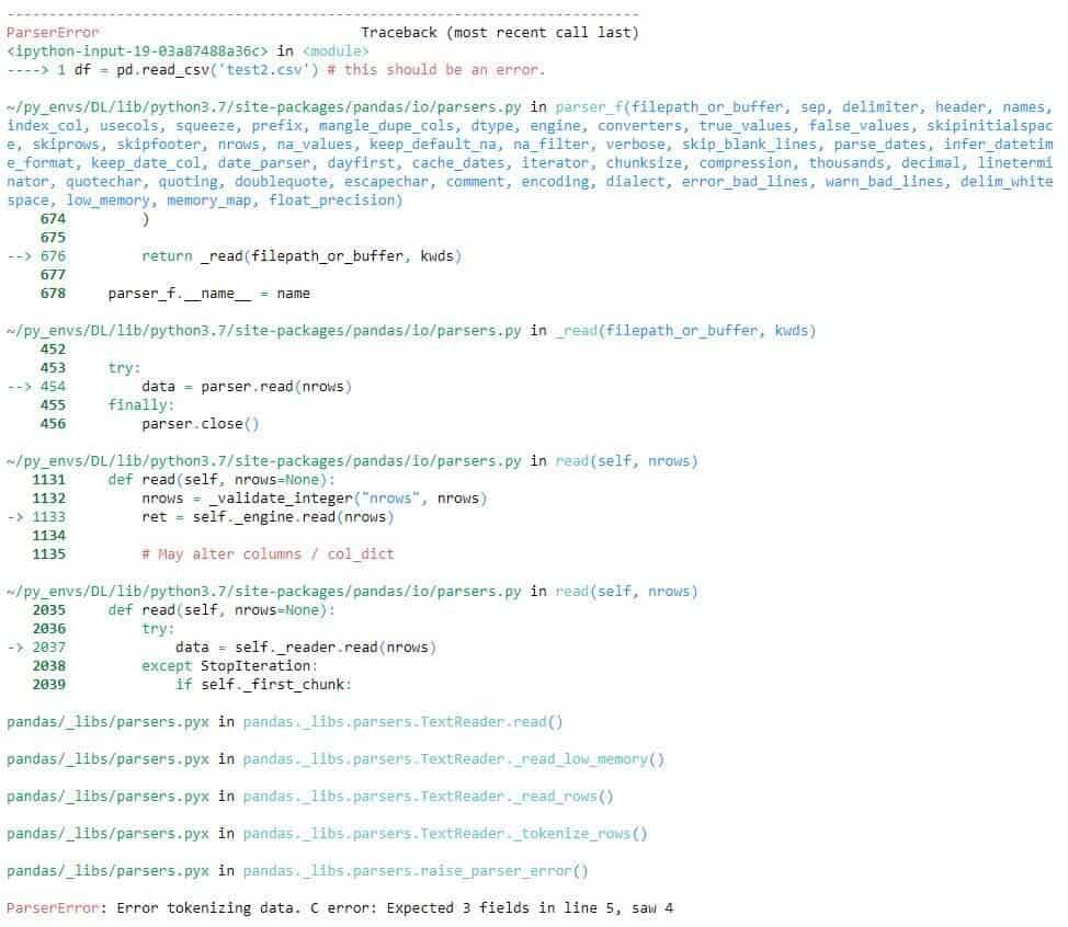 pandas read_csv error message