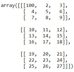 modify element of numpy array basics python tutorial