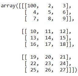modify element of numpy array basics python tutorial