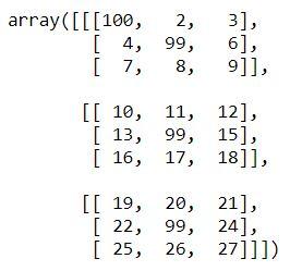 multiple elements change in numpy array basics python tutorial