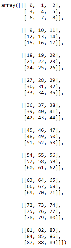 transpose array example numpy