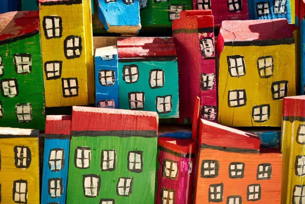 numpy python tutorial colorful arrays houses
