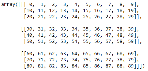reshaped array example2 numpy python tutorial