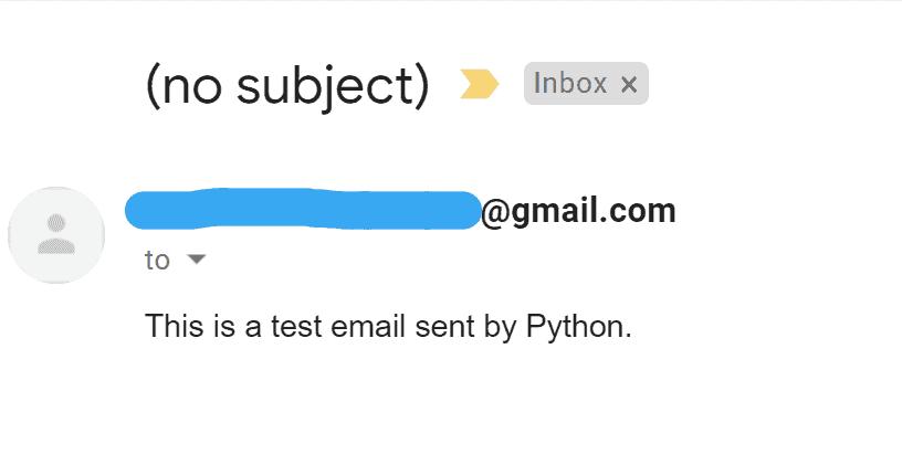 send plain text email using python